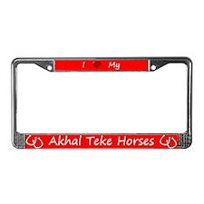 Red I Love My Akhal Teke Horses Frame