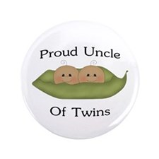 "Proud Uncle Of Twins 3.5"" Button"