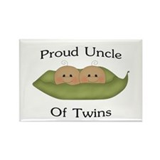 Proud Uncle Of Twins Rectangle Magnet