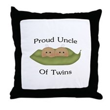 Proud Uncle Of Twins Throw Pillow