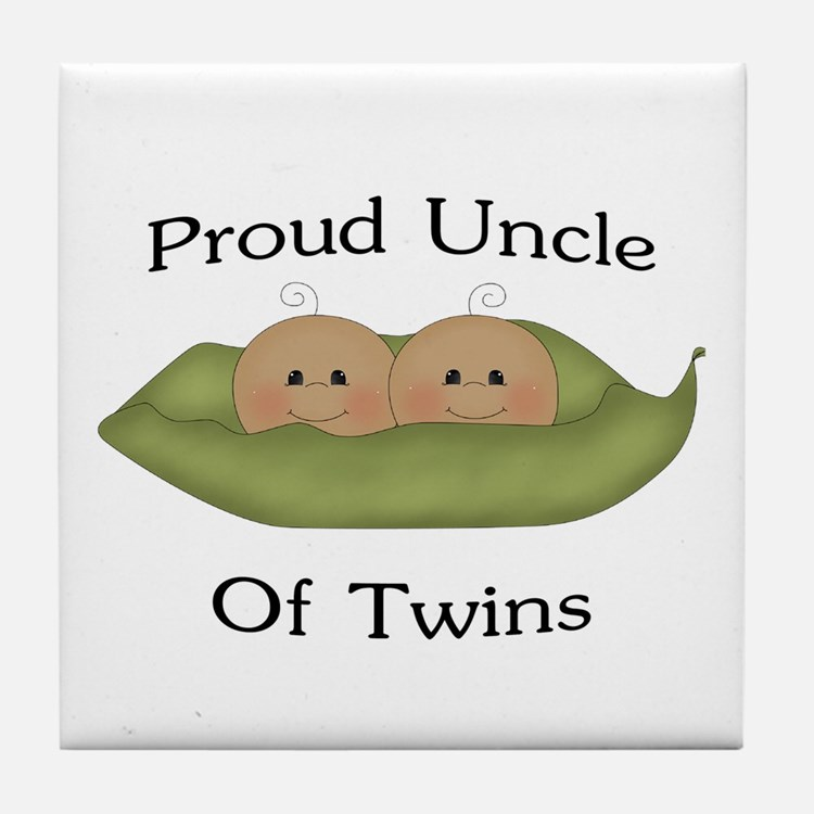 Proud Uncle Of Twins Tile Coaster