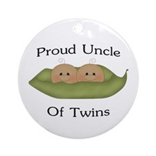 Proud Uncle Of Twins Ornament (Round)