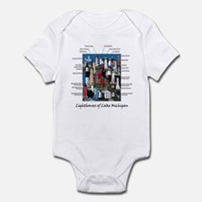 Lighthouses of Lake Michigan Infant Bodysuit