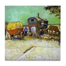 Gypsy Camp near Arles Tile Coaster