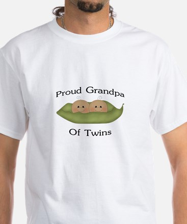Proud Grandpa Of Twins White T-Shirt