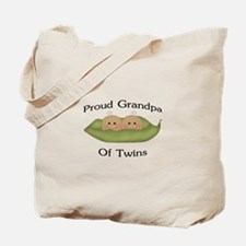 Proud Grandpa Of Twins Tote Bag