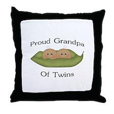 Proud Grandpa Of Twins Throw Pillow