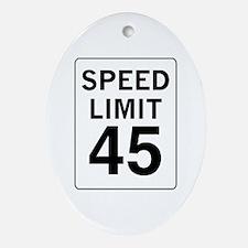 Speed Limit 45 Oval Ornament