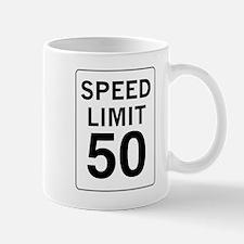 Speed Limit 50 Mug