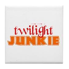 twilight junkie Tile Coaster