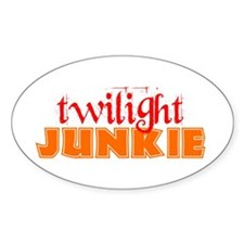 twilight junkie Oval Decal