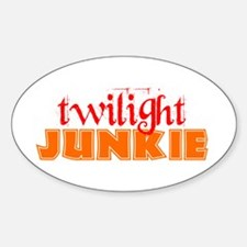 twilight junkie Oval Decal