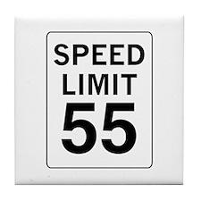 Speed Limit 55 Tile Coaster
