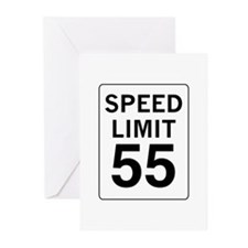 Speed Limit 55 Greeting Cards (Pk of 10)