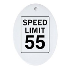 Speed Limit 55 Oval Ornament