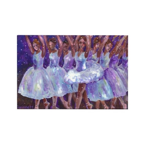 Nutcracker Snow Dance Rectangle Magnet (10 pack)