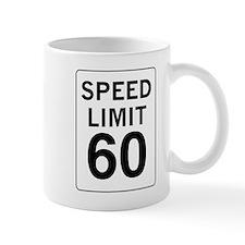 Speed Limit 60 Small Mug