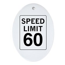 Speed Limit 60 Oval Ornament