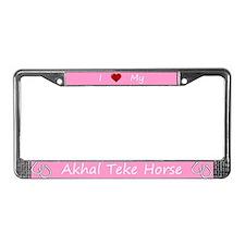 Pink I Love My Akhal Teke Horse Frame