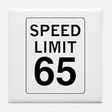 Speed Limit 65 Tile Coaster