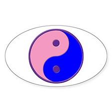 Yin Yang (puffy) Oval Decal