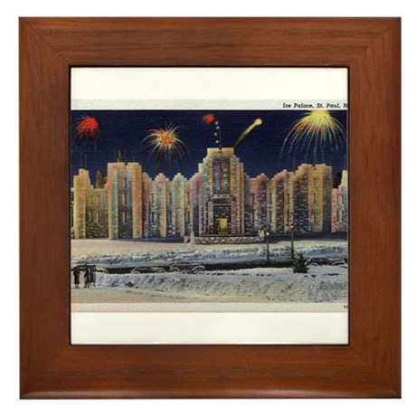 1937 Winter Carnival Ice Palace Framed Tile