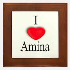 Amina Framed Tile