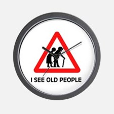 DON'T RUN OVER OLD FOLKS Wall Clock