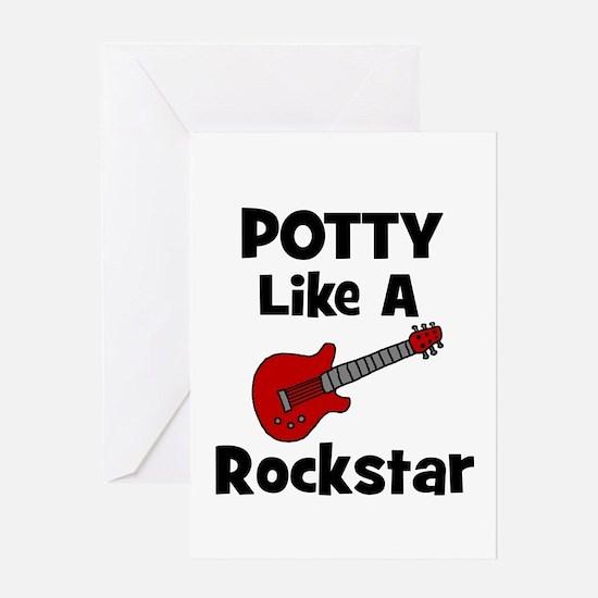 Potty Like A Rockstar with Gu Greeting Card