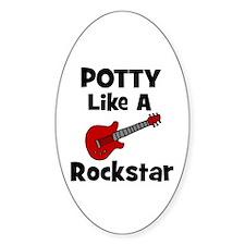 Potty Like A Rockstar with Gu Oval Decal