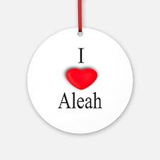 Aleah Ornament (Round)