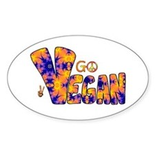 Hippie Vegan Oval Decal