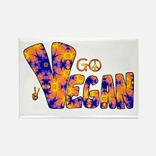 Hippie Vegan Rectangle Magnet
