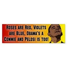 Commies In Charge Bumper Car Sticker