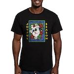 Christmas Rabbit Men's Fitted T-Shirt (dark)