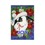 Christmas Rabbit Rectangle Magnet (10 pack)