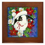 Christmas Rabbit Framed Tile