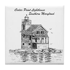 Cedar Point Lighthouse Tile Coaster