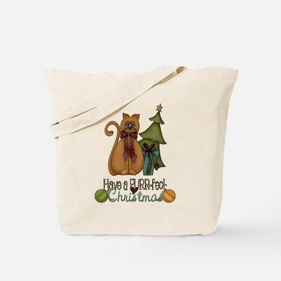 Kitty Purrfect Christmas Tote Bag