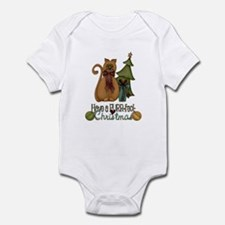 Kitty Purrfect Christmas Infant Bodysuit