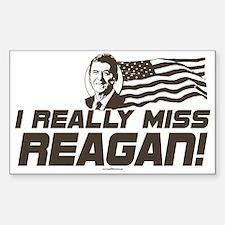 I Miss Reagan Rectangle Decal