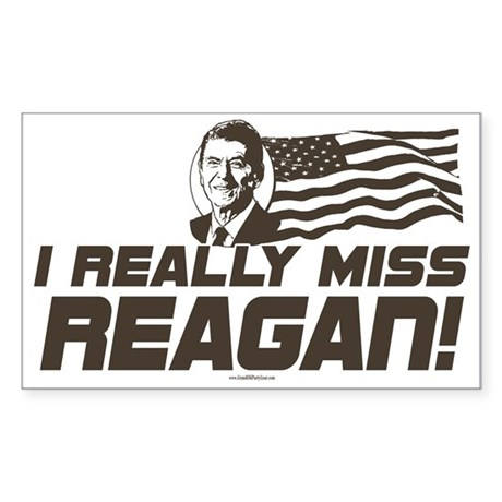 I Miss Reagan Rectangle Sticker