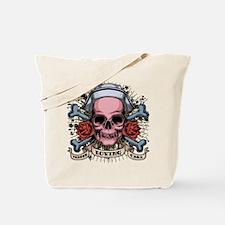 TLC Nurse Skull Tote Bag