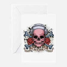 TLC Nurse Skull Greeting Cards (Pk of 10)