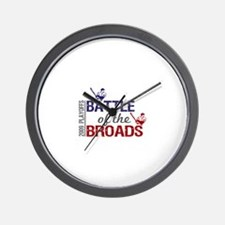 Battle of the Broads Wall Clock