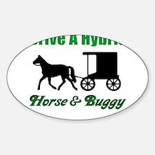 Drive a Hybrid Oval Sticker (10 pk)