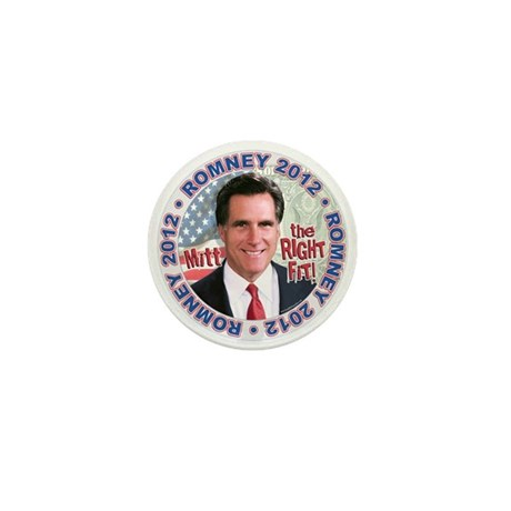 Mitt Romney Right Fit Mini Button (10 pack)