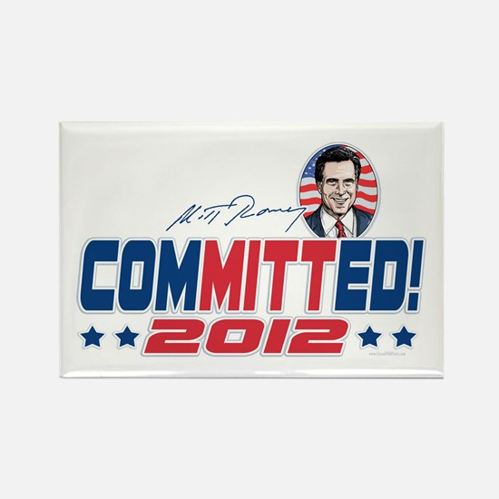 Romney ComMITTed 2012 Rectangle Magnet