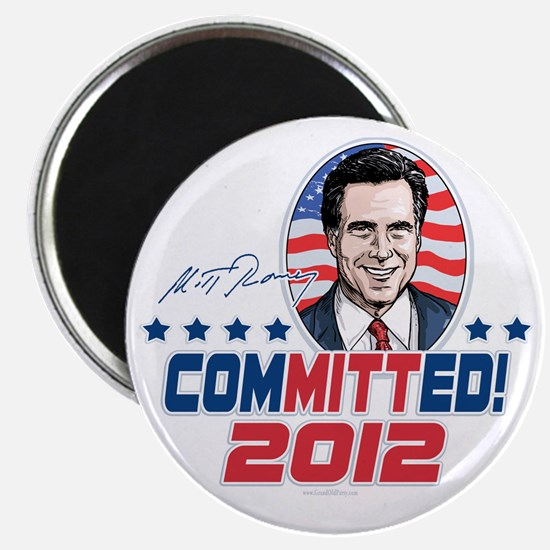 Romney ComMITTed 2012 Magnet