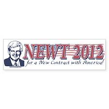 Newt Gingrich 2012 Bumper Car Sticker